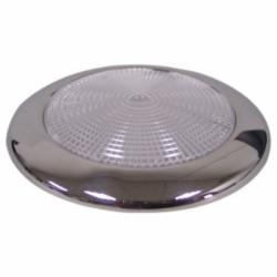 LED loftslampe med rustfri stålkant til påbygning  diameter 94 mm IP66 - 1