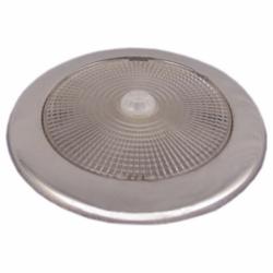 LED loftslampe med rustfri stålkant til påbygning diamenter 132 mm - 1