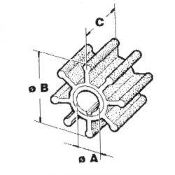 Impel Yamaha/Mariner 63V-44352-01 - 1