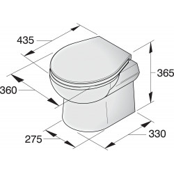 Toilet type SMTO2S24, 24V
