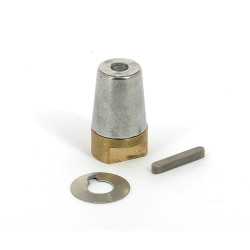 Set bronze ogive & zinc anode complete for shaft 35mm