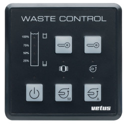VETUS waste water system control panel 12 & 24 Volt