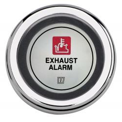 VETUS exhaust temperature alarm, black, 12 Volt, cut-out size 52mm
