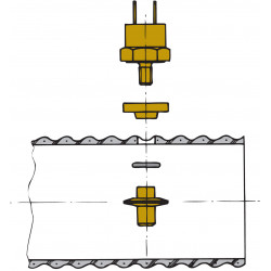 VETUS sensor for exhaust temperature alarm to fit exhaust hose