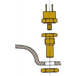 VETUS sensor for exhaust temperature alarm to fit muffler