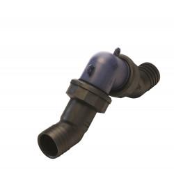 Plastic in-line non-return valve