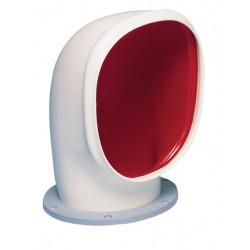 VETUS cowl ventilator YOGI S, 125 mm, white PVC, red interior