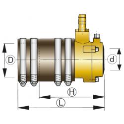 VETUS bronze fleksibelt stævnrørsleje med dual lip seal, 35mm - 1