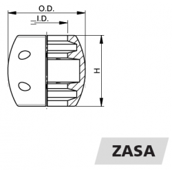 "VETUS akselanode i zink 1.75"" - 3"