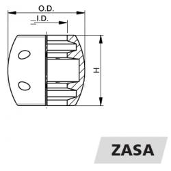 "VETUS akselanode i zink 1.25"" - 3"