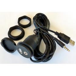 Kabelsæt med USB/AUX til frontindbygning - 1