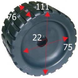Siderulle bredde 125 mm - 1
