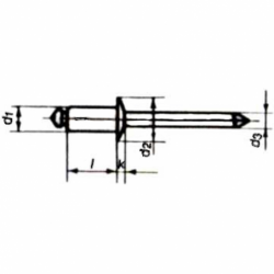 Blindnitte / Popnitte kan bruges til aluminium - 1