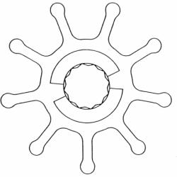 Impel til Perkins, neopren - 1