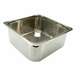 Rektangulær vask i rustfrit stål - 2